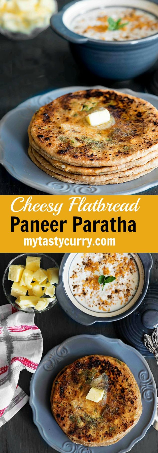 Paneer ka Paratha | Paneer stuffed Paratha Recipe | My Tasty Curry