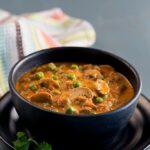 Matar mushroom curry or matar mushroom ki sabzi is very popular Indian curry made with peas and mushrooms.