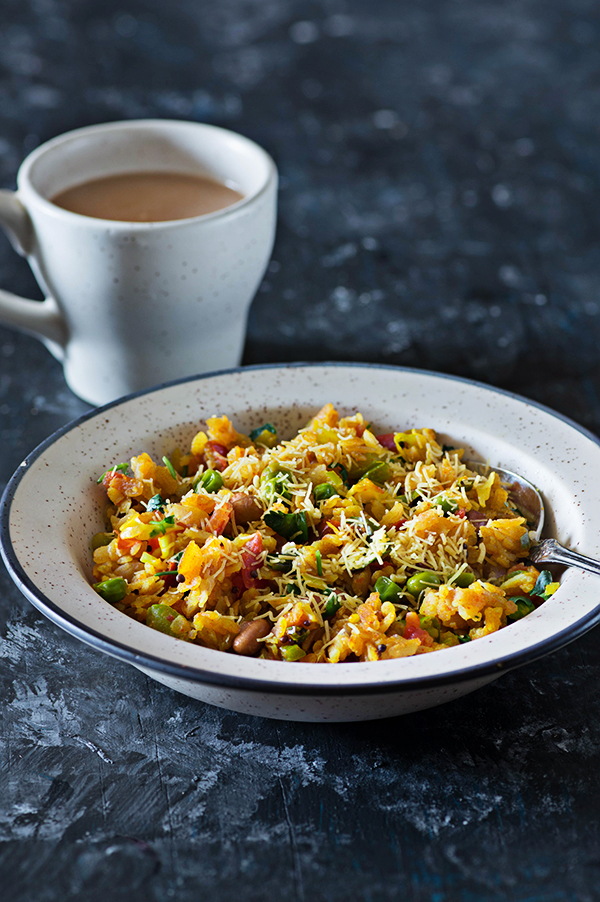 Vegetable Poha Recipe : Indian Breakfast of Poha Made ...