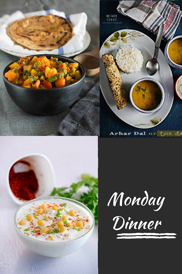 Indian Meal plan with recipes