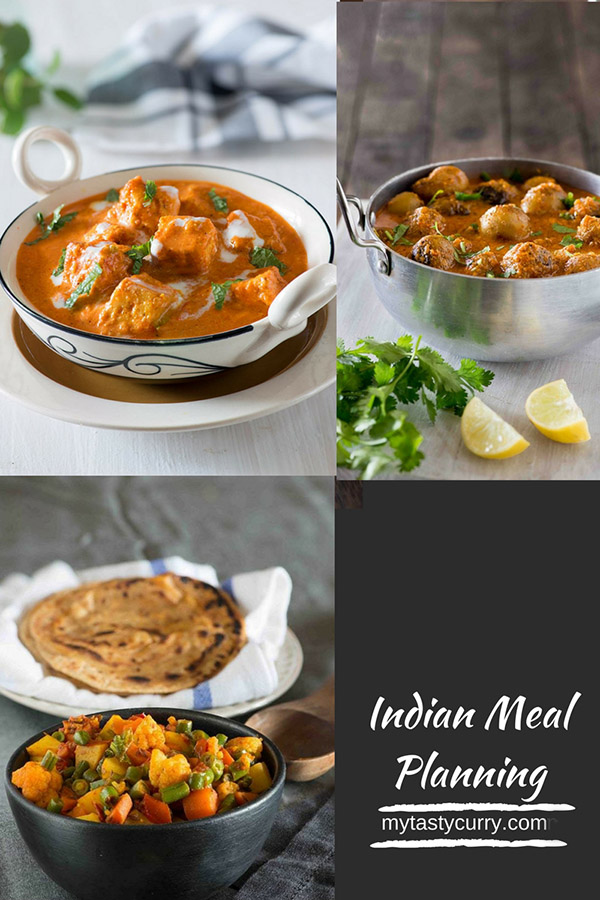 Weekly Indian Meal Plan with recipes for a week. Day wise weekly Indian menu plan with recipes, grocery list and meal prep tips for everyday dinner under 30 minute.
