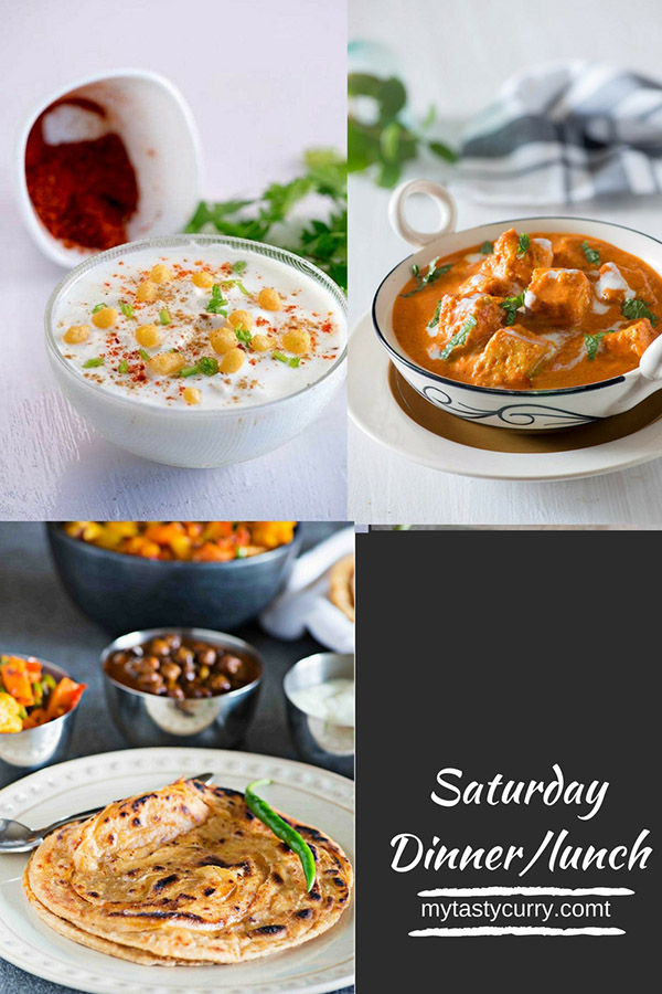 Indian Meal Plan with recipes for a week. Day wise weekly Indian Meal plan with recipes, grocery list and meal prep tips for everyday dinner under 30 minutes.