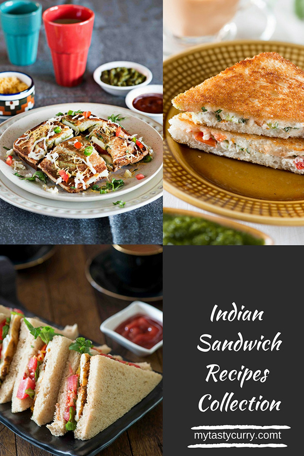 Sandwich Recipes Easy Indian Hot Sandwichs and Cold Sandwiches. A sandwich is a quick and easy breakfast or snack that makes a great meal and want something in short time. This is a collection of Popular Indian sandwich recipes with delicious Indian flavored sandwich fillings.