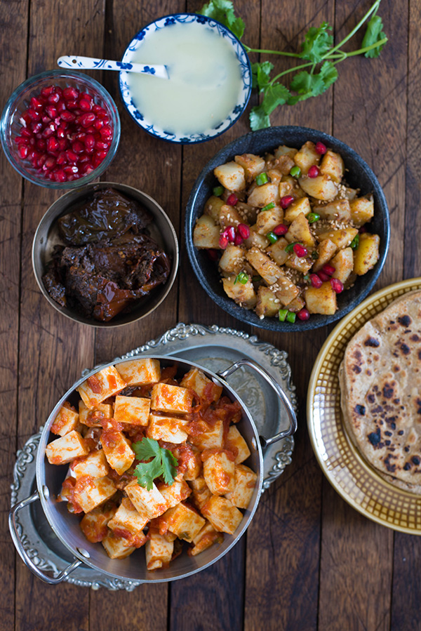 Masala Aloo recipe is a spicy potato recipe with a generous amount of masala and makes a perfect side dish for a dal or gravy dish. One of most tasty and easy potato dish for any Indian meal.