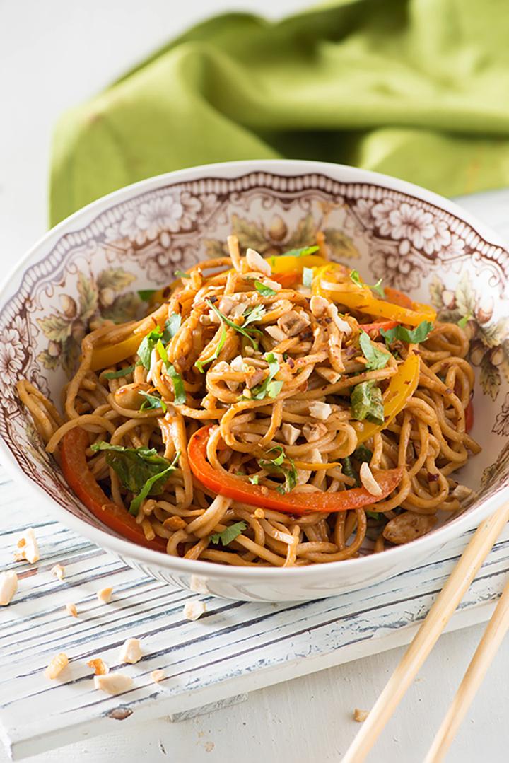 Thai peanut noodles Salad
