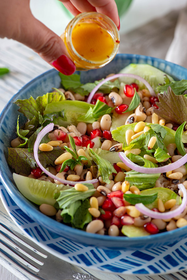 If you are looking to make wholesome and delicious summer salad recipes, this white beans and veggie salad has got a great potential to become your favorite summer salad recipe. Of course, you can make your favorite variation out of these. Make lobia bean salad, soybean salad or maybe any other white bean of your choice but you must try this white bean salad at least once.