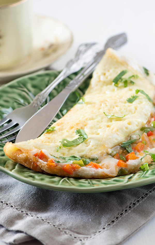 stuffed indian omelette