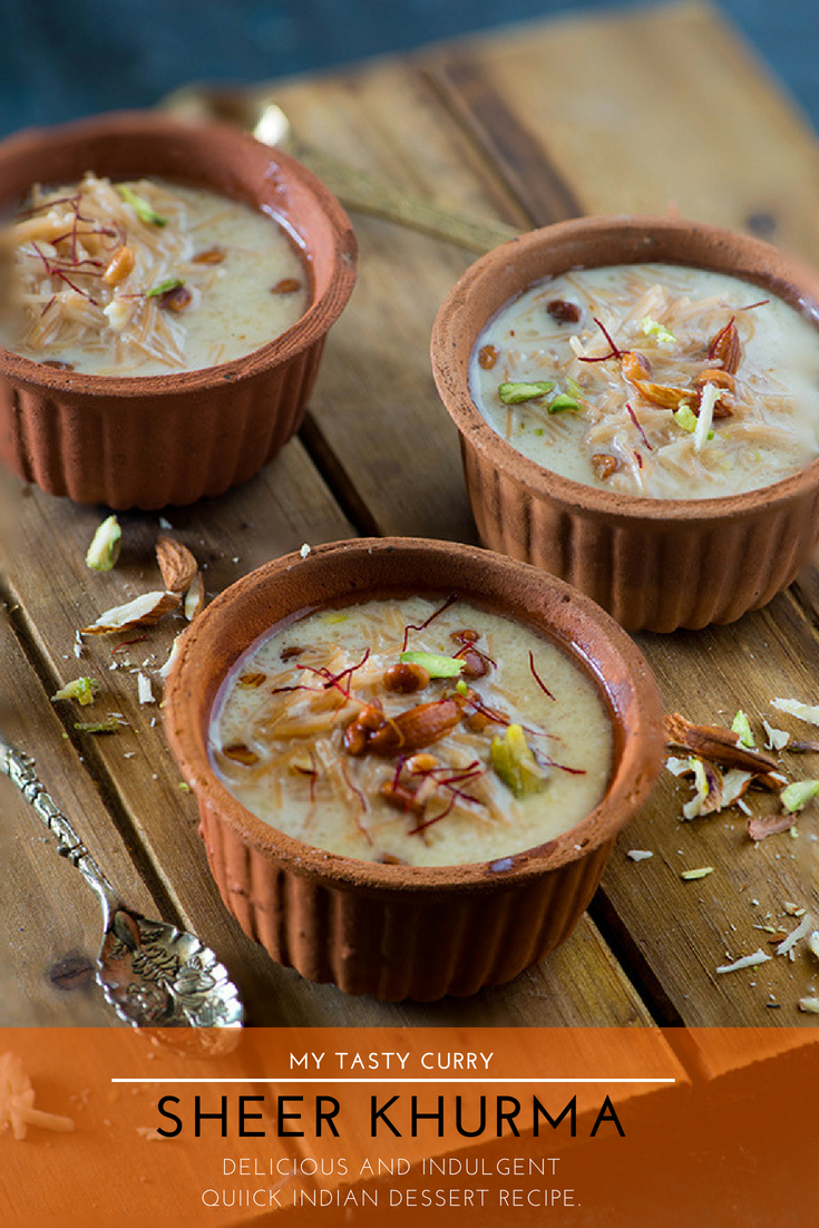 Sheer khurma, also known as sheer korma is a traditional and rich Mughlai INDIAN dessert from Hyderabad. A festive dessert which is specially prepared on Eid-ul-Fitr and in the month of Ramadan for Iftar. #30minutes #DESSERT #authentic and a deliciously decadent dessert is ready to be served on your table