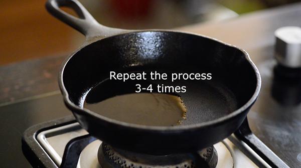 season cast iron pan -step 8