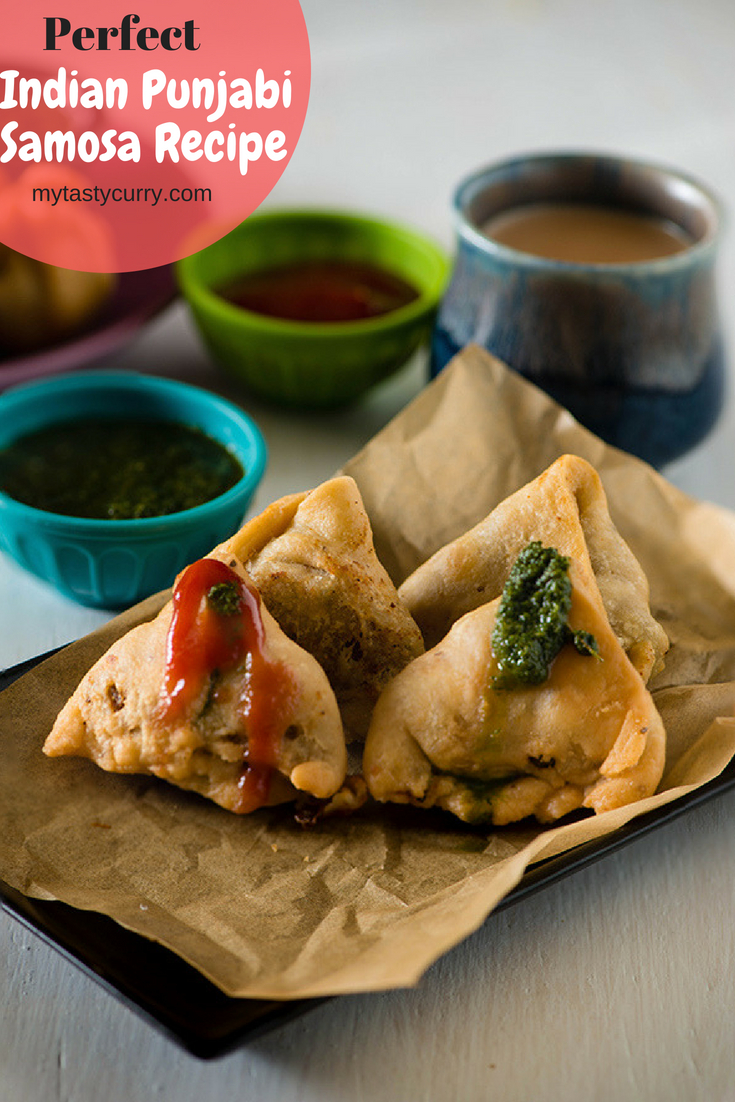 Indian samosa recipe with potato stuffing. Learn how to make crisp and flaky best Punjabi samosa recipe with stuffing, how to fold samosa, step by step