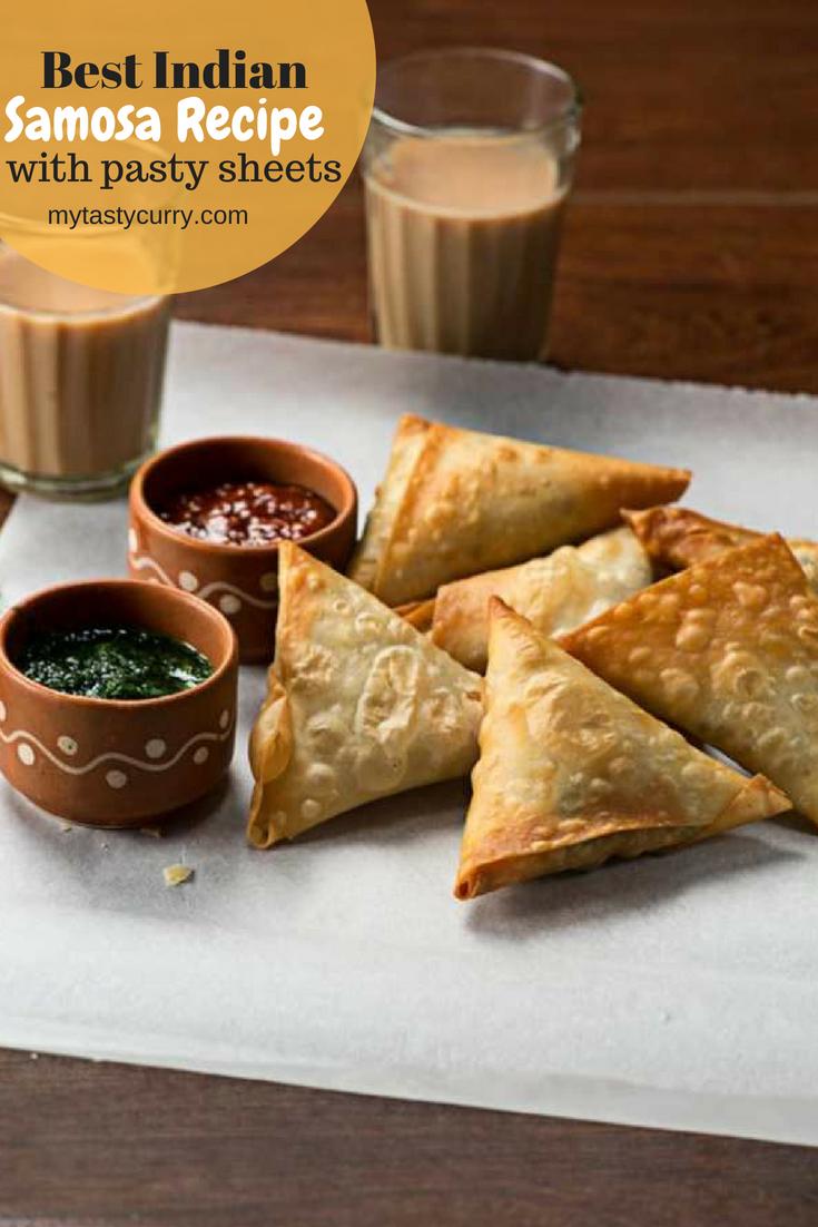 Best Indian samosa recipe using pastry sheet. Punjabi samosa recipe, a popular Indian snack. #indianfood #samosa #snack #teatimesnack