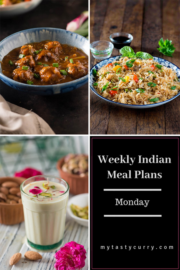Weekly meal plan Monday