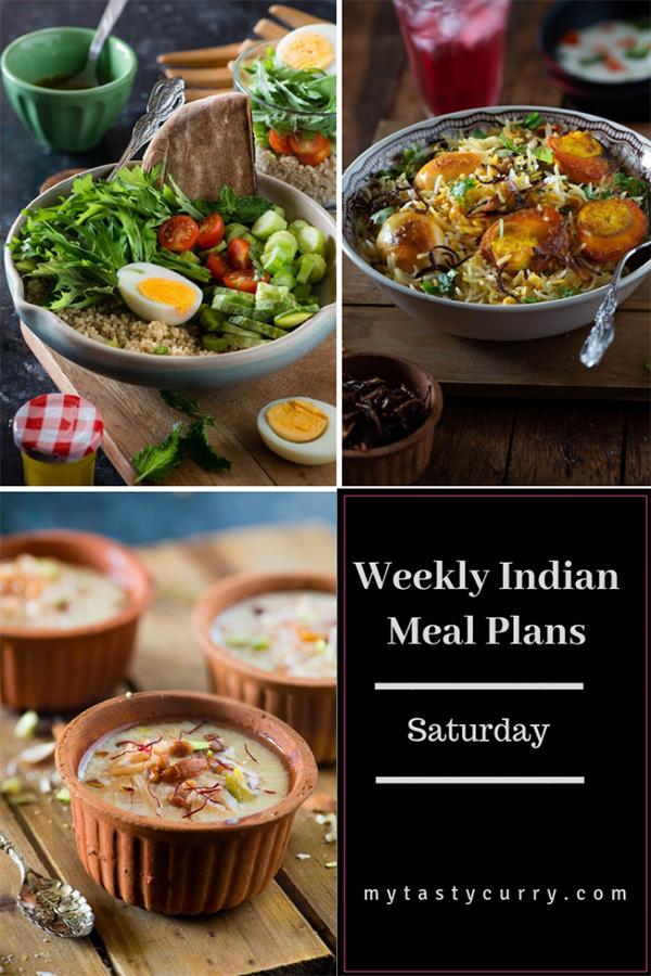 weekly meal plan saturday