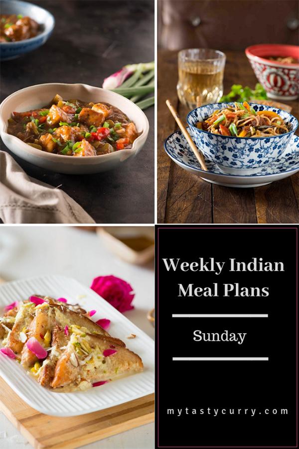 Indian menu plan