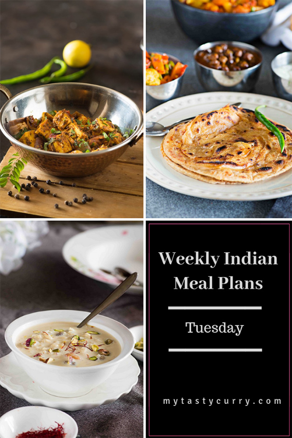 weekly meal plan Tuesday