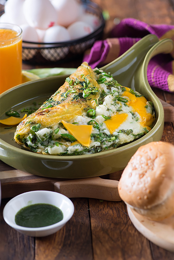 Spinach Cheese Omelette recipe