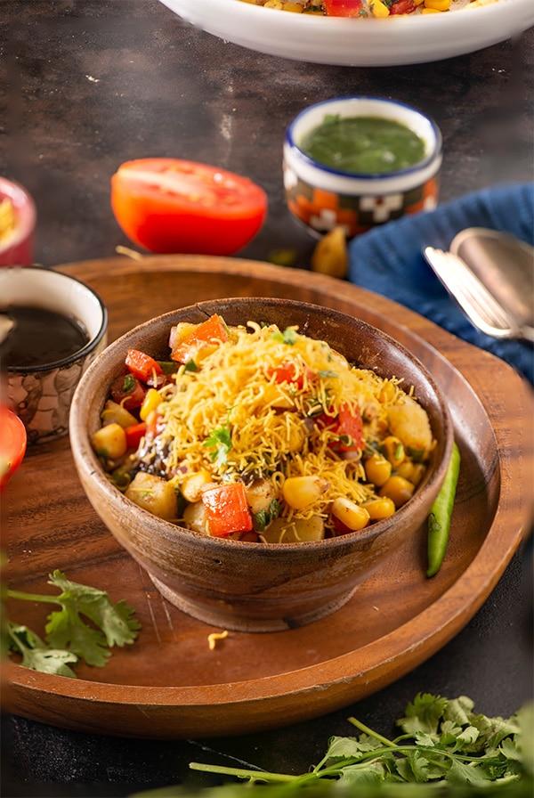 Corn Bhel Recipe