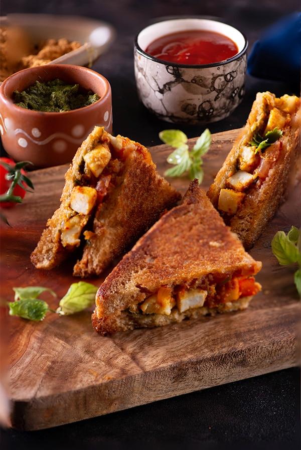 Masala Paneer sandwich