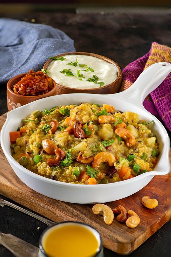 Quinoa Khichdi recipe in pressure cooker