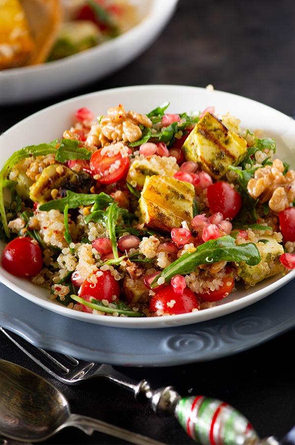 Grilled paneer quinoa salad recipe