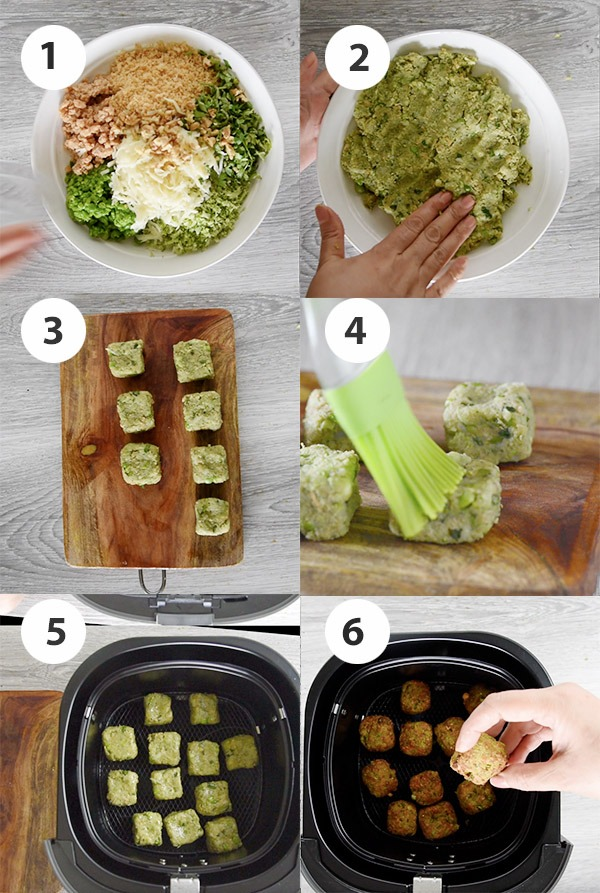 step by step pictures of making vegetarian nuggets