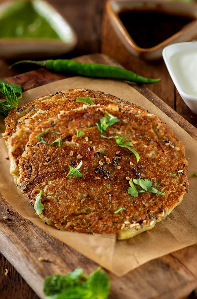 Semolina suji pancakes recipe image