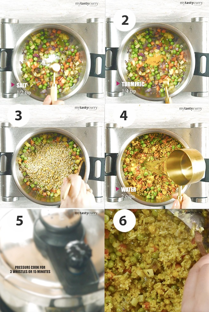 step by step picture cooking bulgur pulao