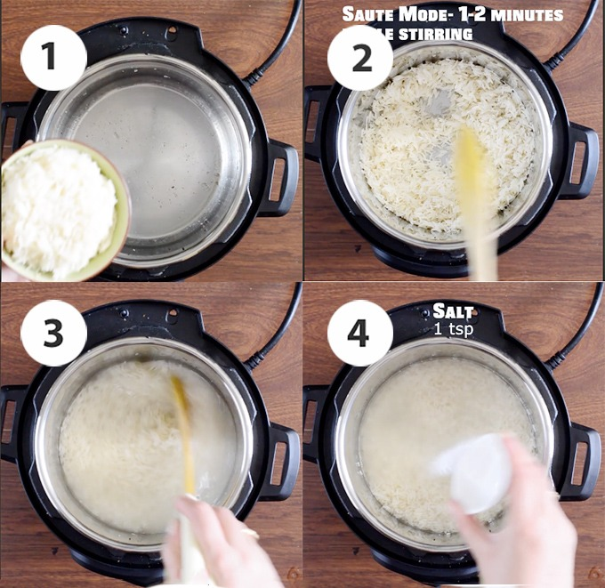 cooking rice in instant pot