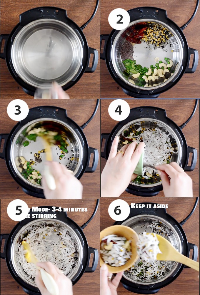 making coconut rice stepwise