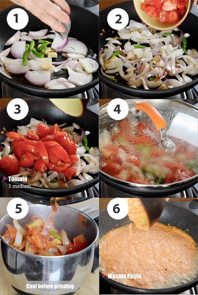 Matar paneer easy recipe steps