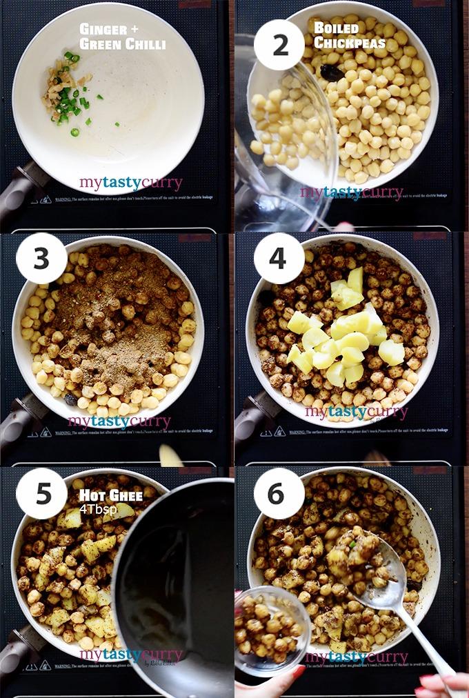 pindi chole recipe steps