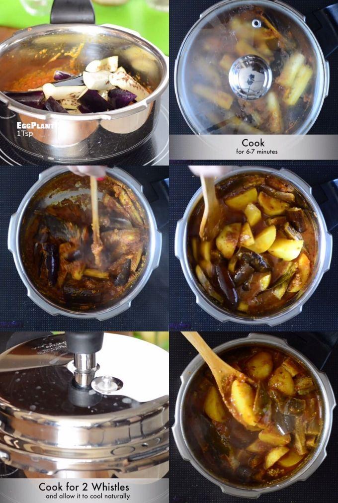 aloo baingan sabzi recipe steps
