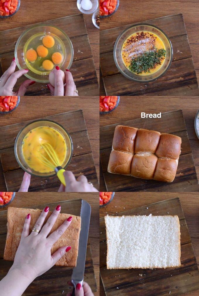 Baked omelette recipe steps