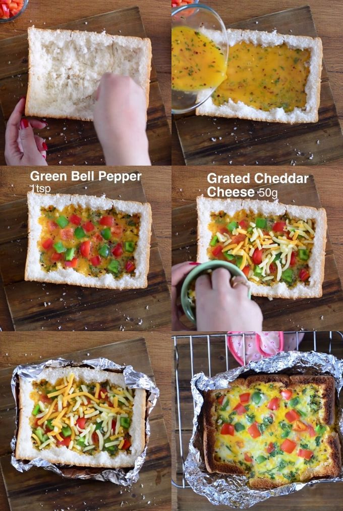 Oven Baked omelette recipe step by step