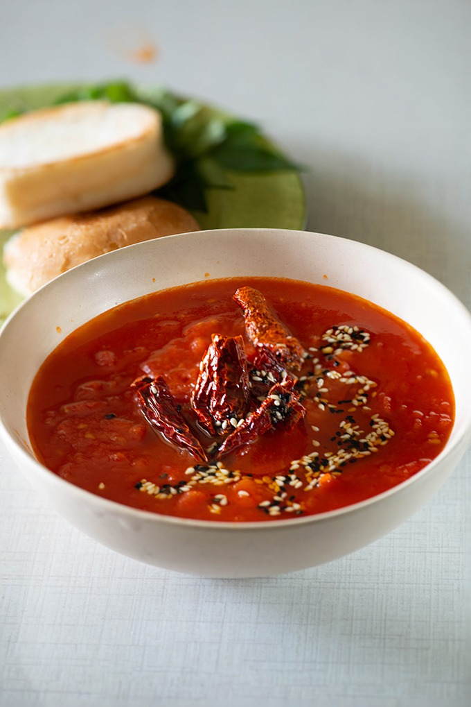 Tomato Chutney Recipe Sweet Spicy And Sour My Tasty Curry