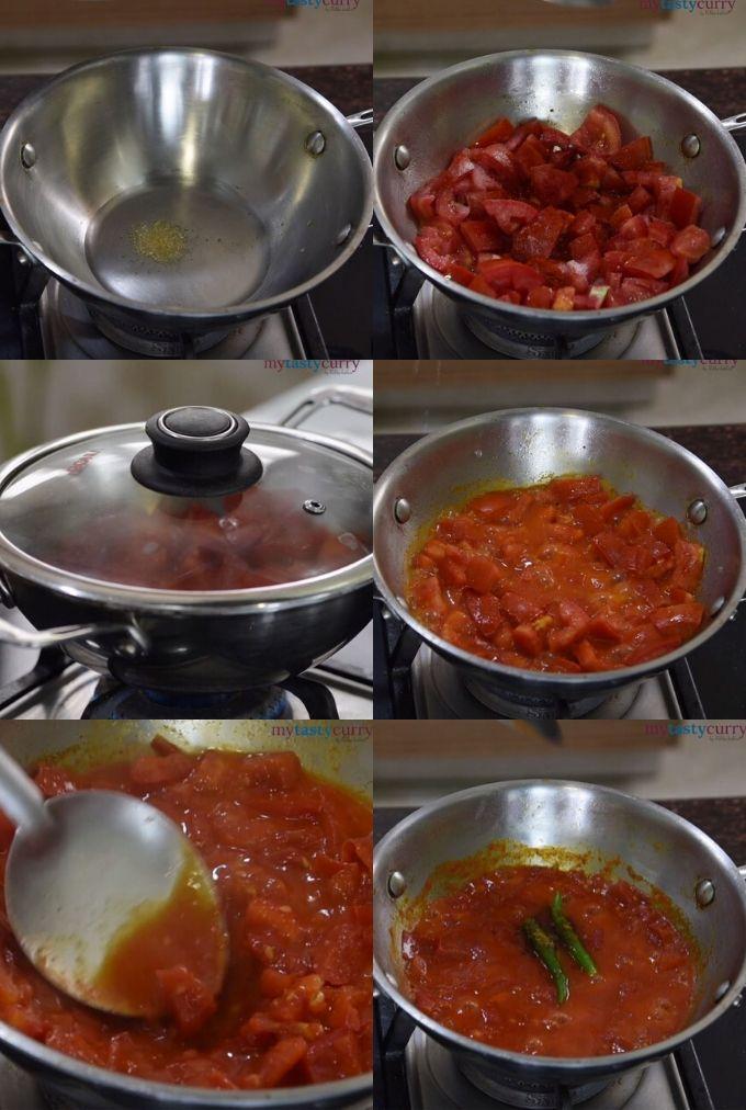 tomato chutney stepwise method