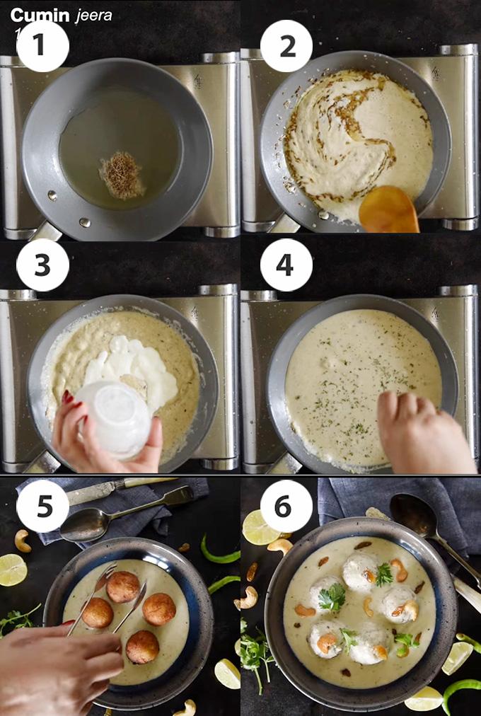 step by step making kofta gravy