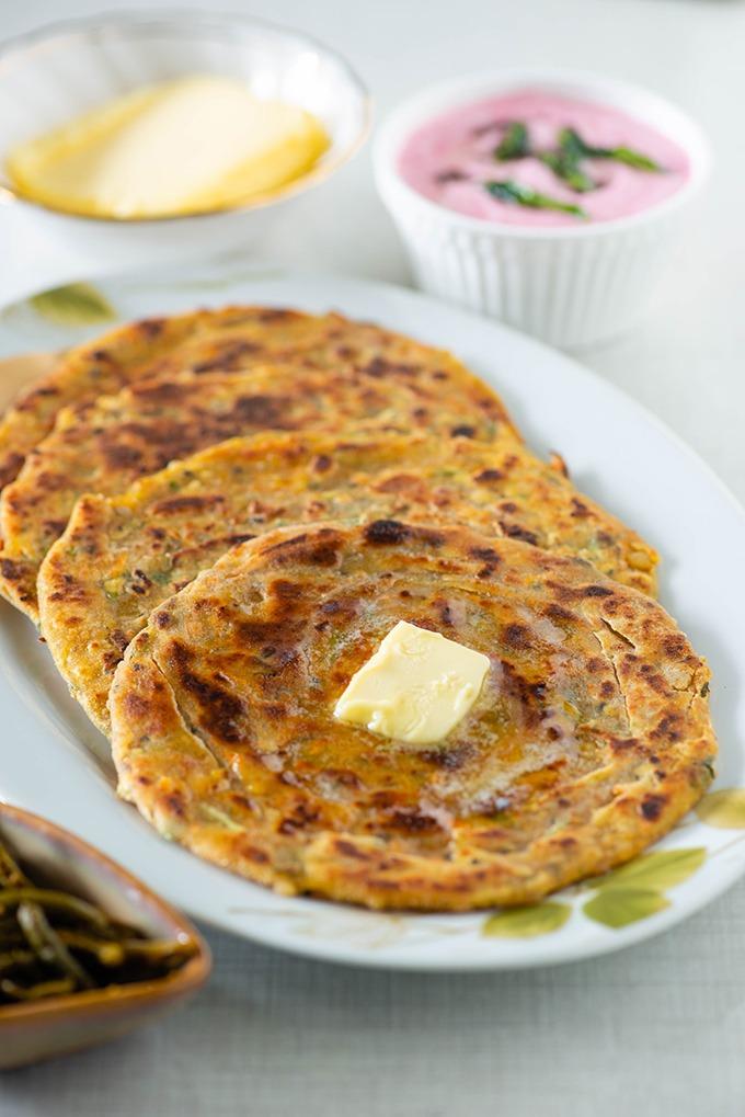 leftover dal paratha