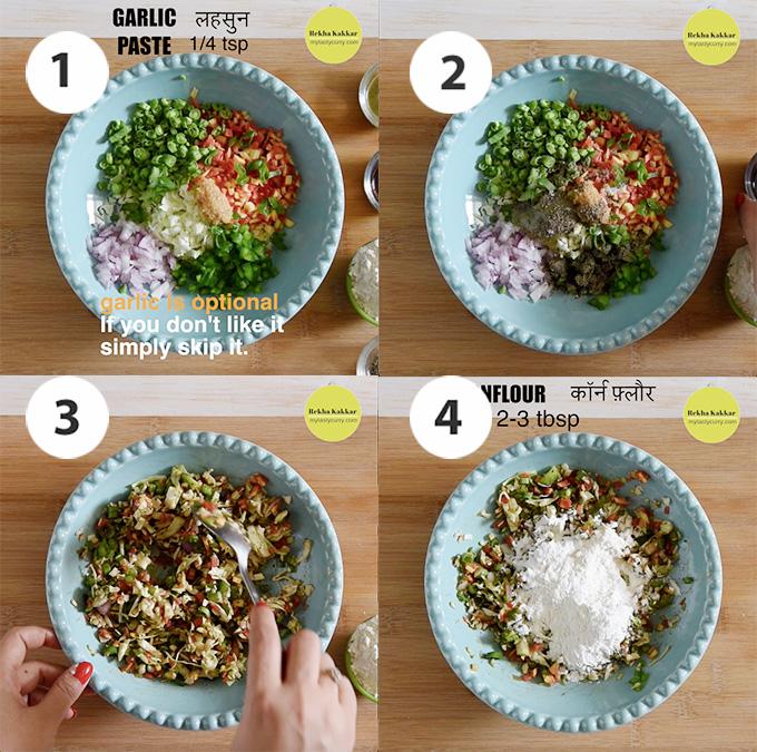 Vegetables mixture for making veg balls