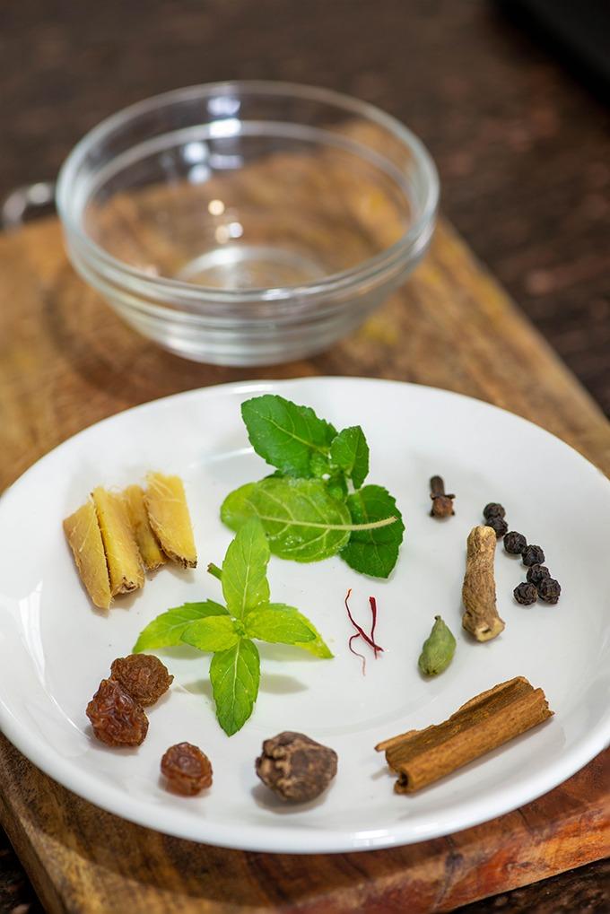 Kadha ingredients