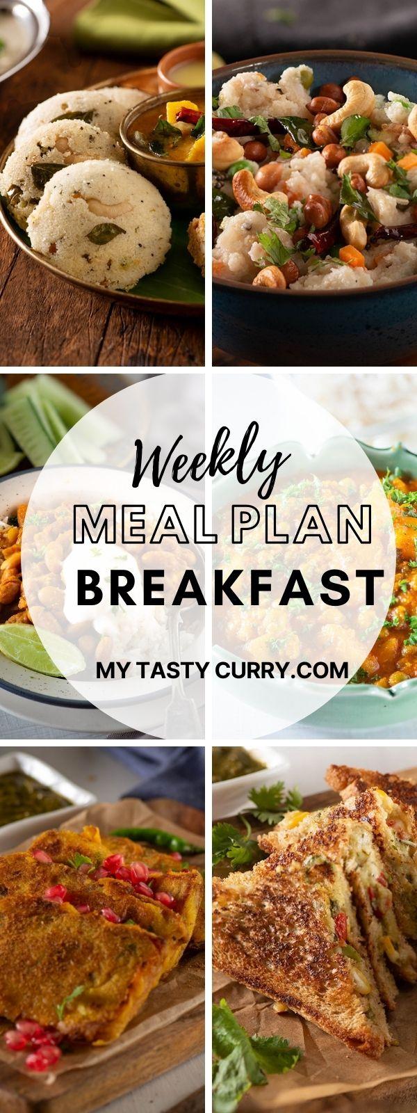 menu plan week's breakfast