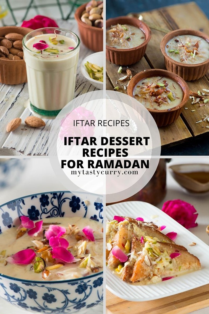 desserts and sweets for iftar