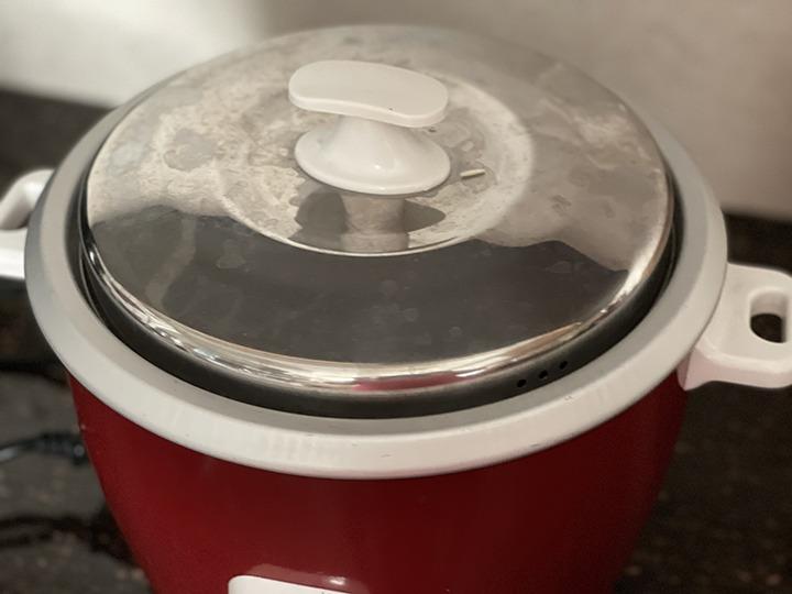 Lemon rice in rice cooker step 4