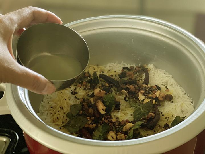 Step 10 Lemon rice recipe