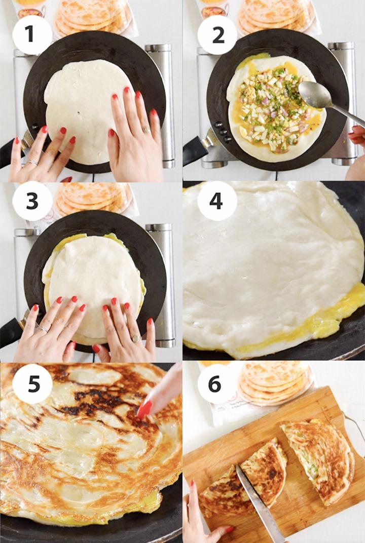 Step by step cooking mughlai Paratha