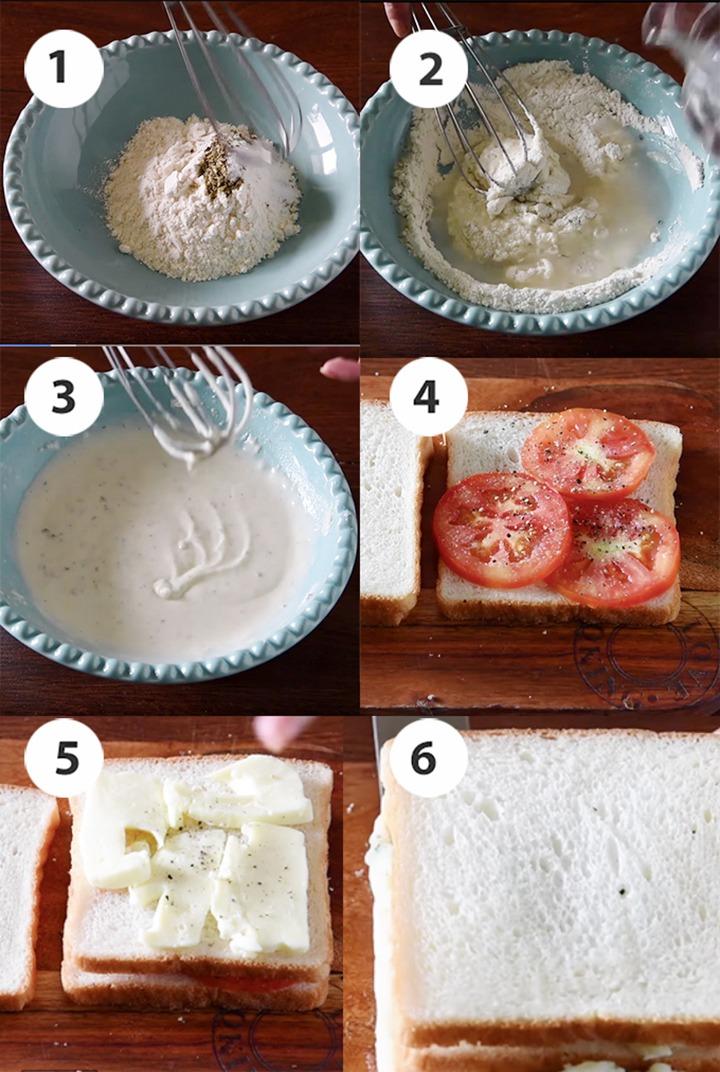 step by step crispy sandwich pakora